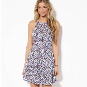 American Eagle Floral Cutout Dress